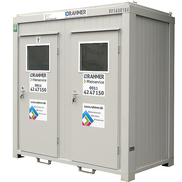 Rahmer Mietservice WC-Container